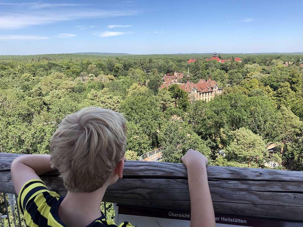 Helemaal bovenin hebben we een mooi uitzicht over de omgeving