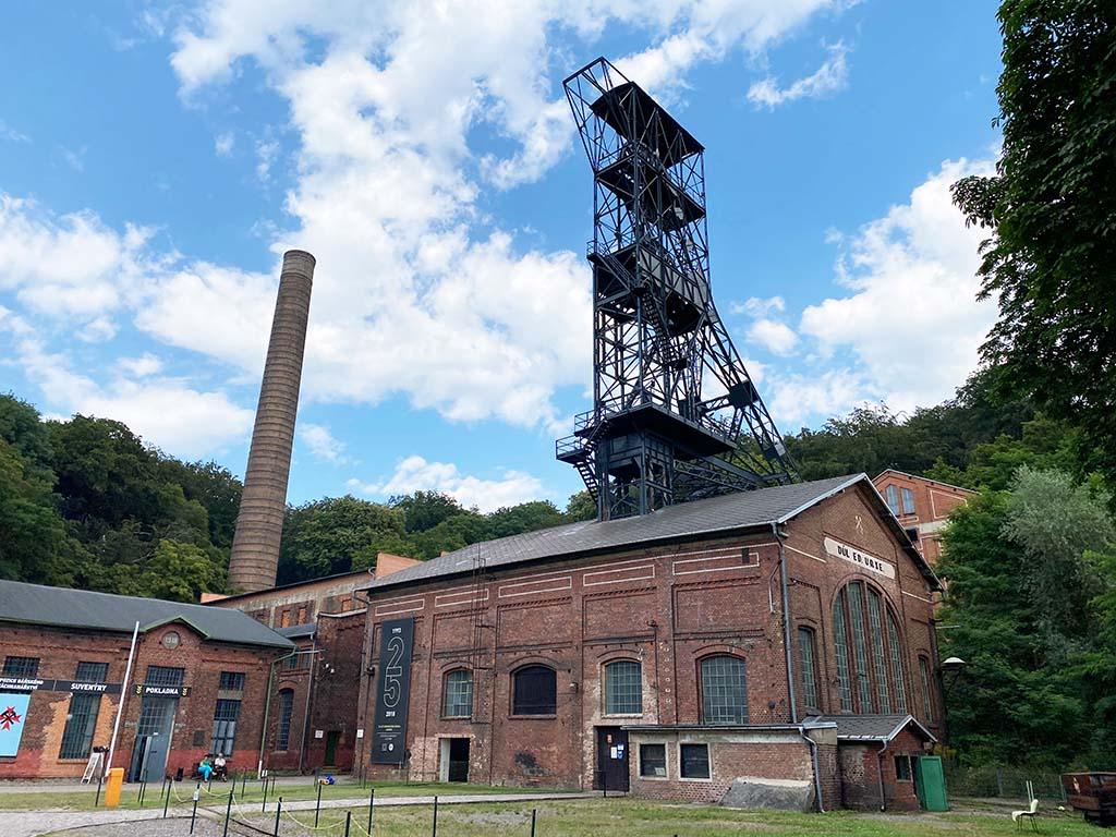 De oude mijnen van Landek Park, tegenwoordig een mijnmuseum