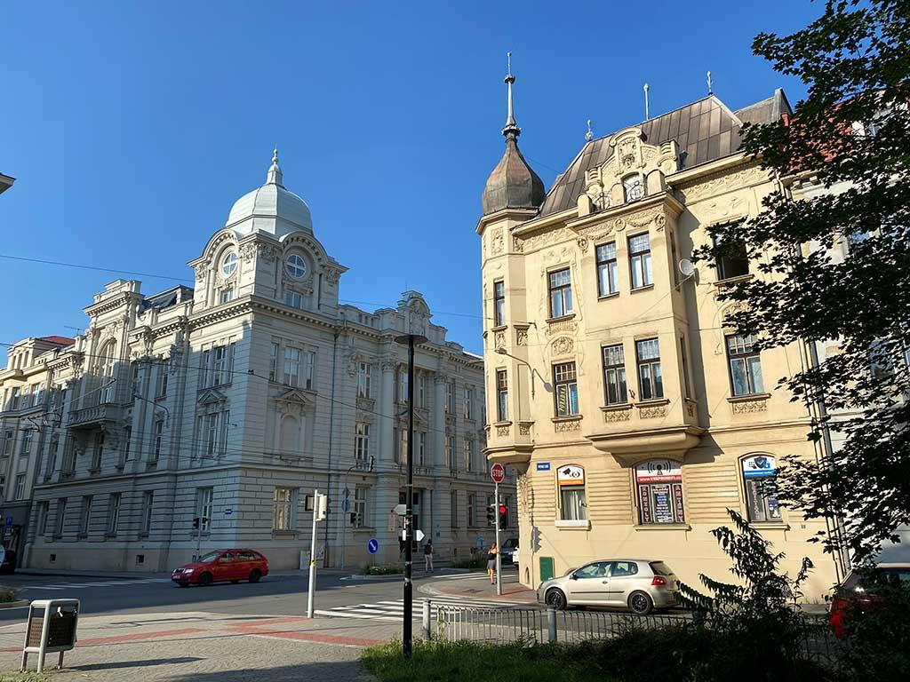 Mooie gebouwen in het centrum van Ostrava