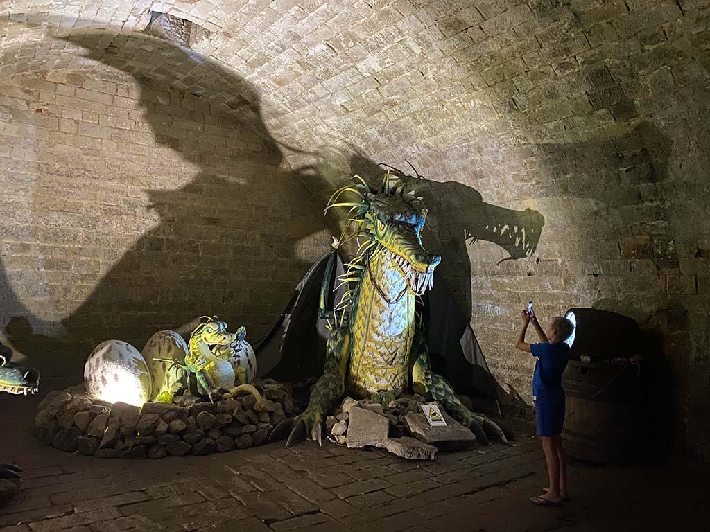 In de kerkers van kasteel Stare Hrady wonen natuurlijk ook grote draken