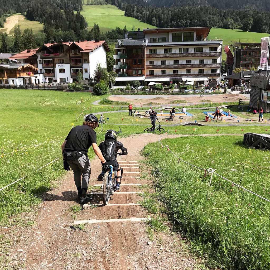Het Bikepark Saalfelden Leogang is ook geschikt voor (kleine) kinderen.
