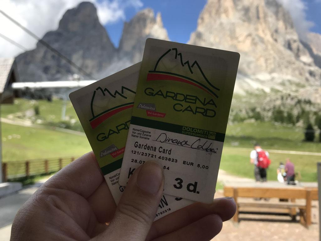 Met de Val Gardena kaart heb je gratis toegang tot liften.