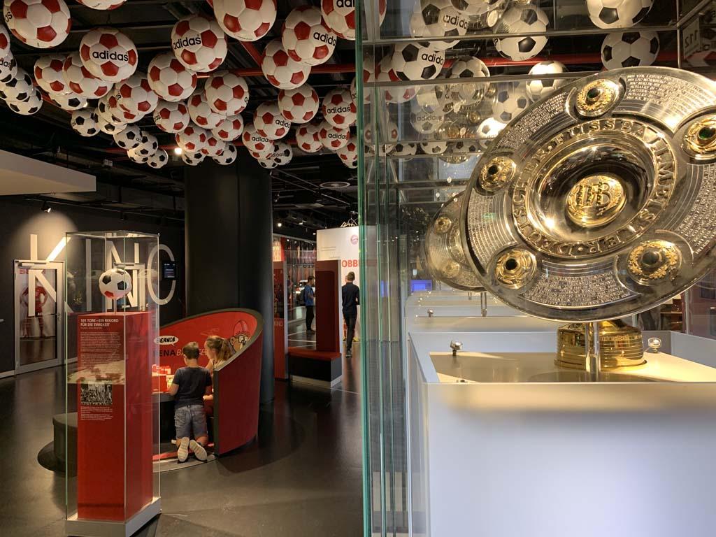 Erlebniswelt in het stadion van Bayern München.