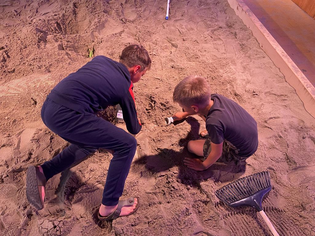 Uiteindelijk brengen we de meeste tijd door bij de afgraving van Dino Fabriek.