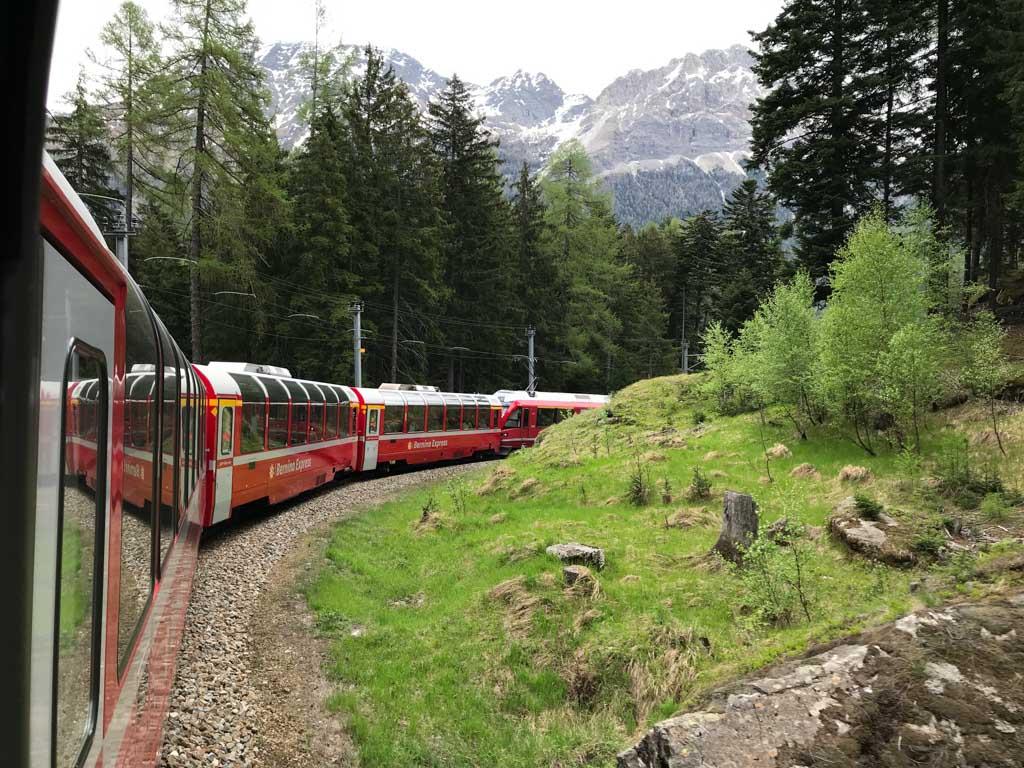 Zwitserland is makkelijk te verkennen met de trein.