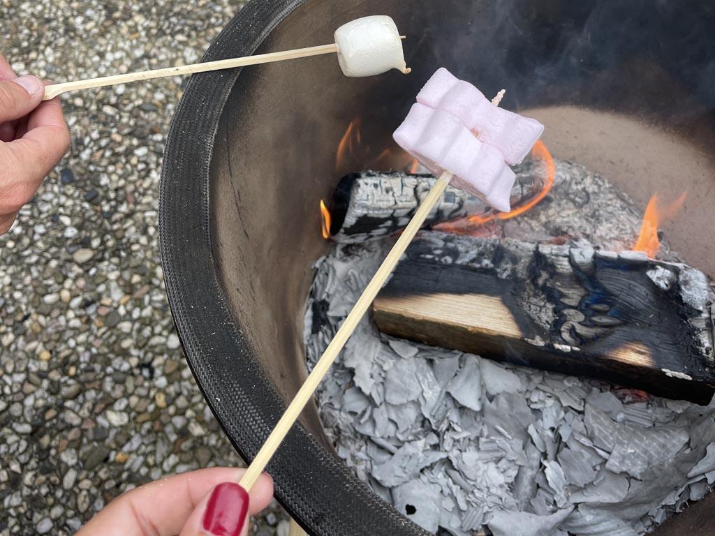 Fikkie stoken en marshmallows roosteren, daarvoor komen de tieners wel naar buiten.